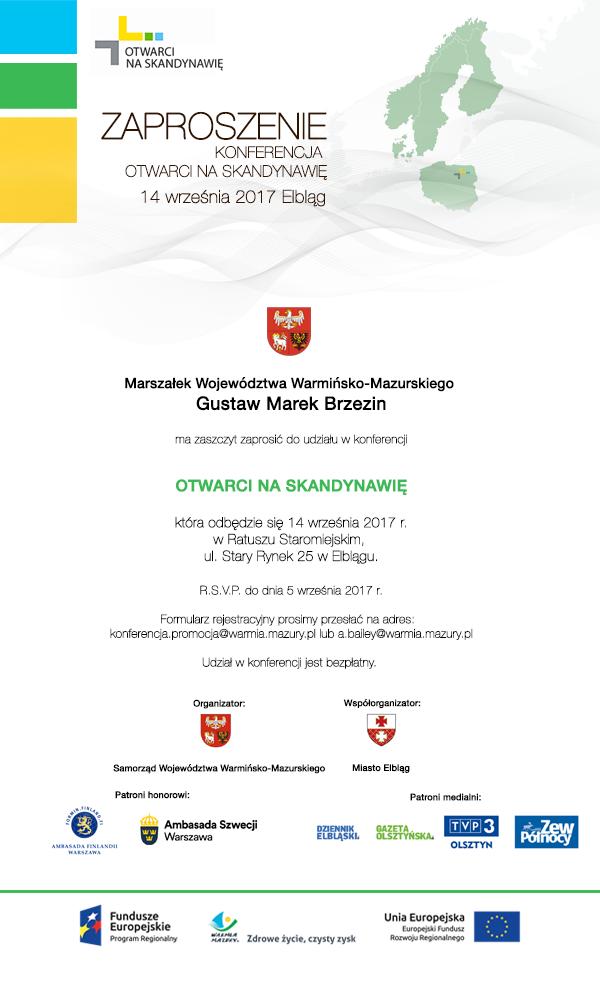 Zaproszenie Na Konferencję Otwarci Na Skandynawię Portal