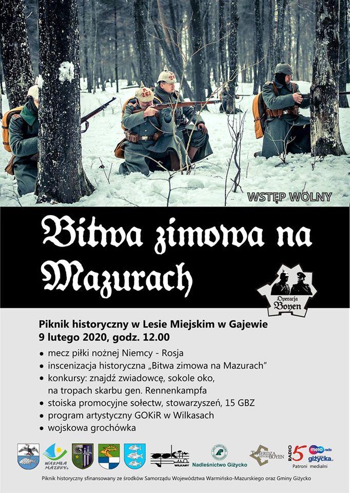 plakat Bitwa zimowa na Mazurach 2020