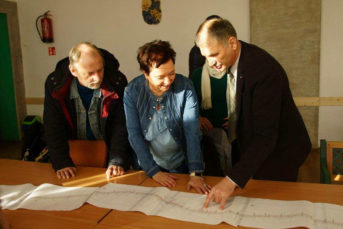 spotkanie Dyrektora ZDP z mieszkańcami Marcinowej Woli