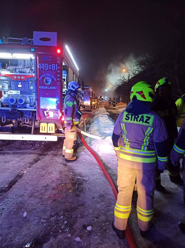 zdjęcie pożar w Pozezdrzu