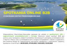 plakat spotkań olnine b2b