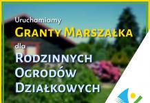 grafika - granty marszałka dla rodzinnych ogródków działkowych