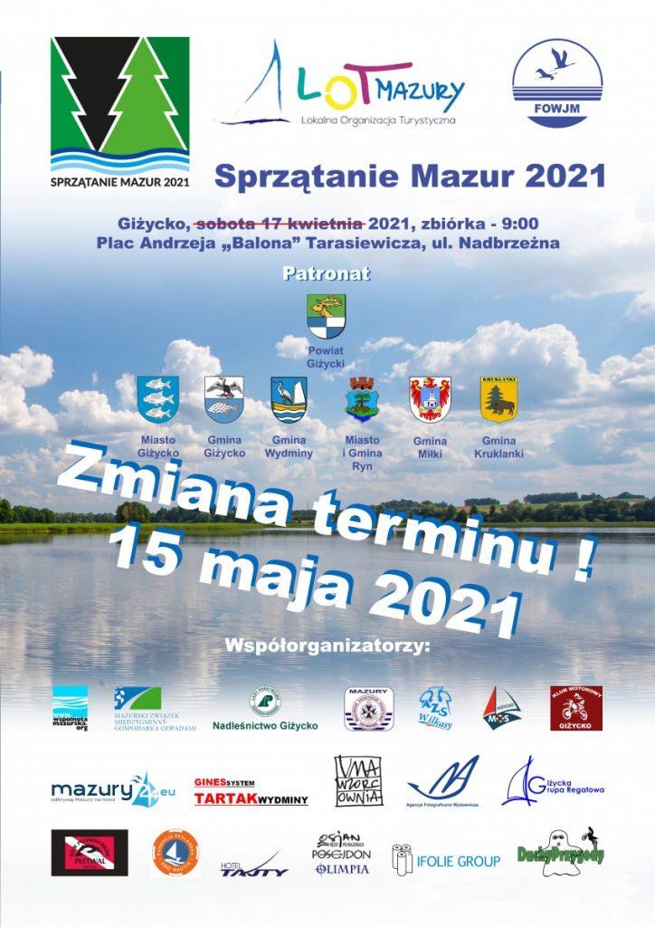 plakat akcji Sprzątanie Mazur