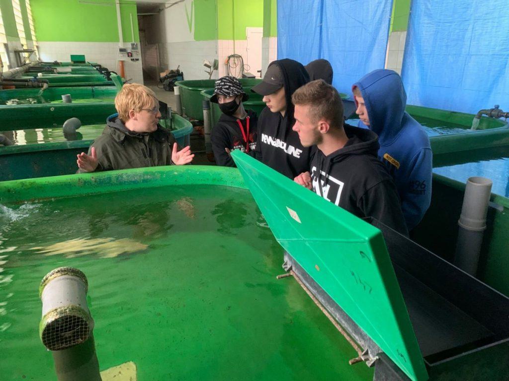zdjęcie podopieczni MOS w zakładach hodowli ryb