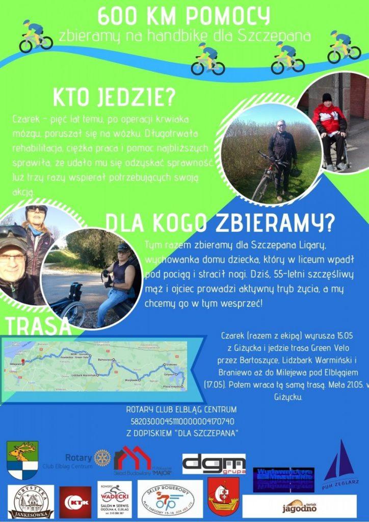 plakat 600 km pomocy
