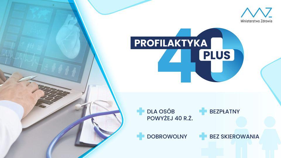 logo programu profilaktycznego 40 plus