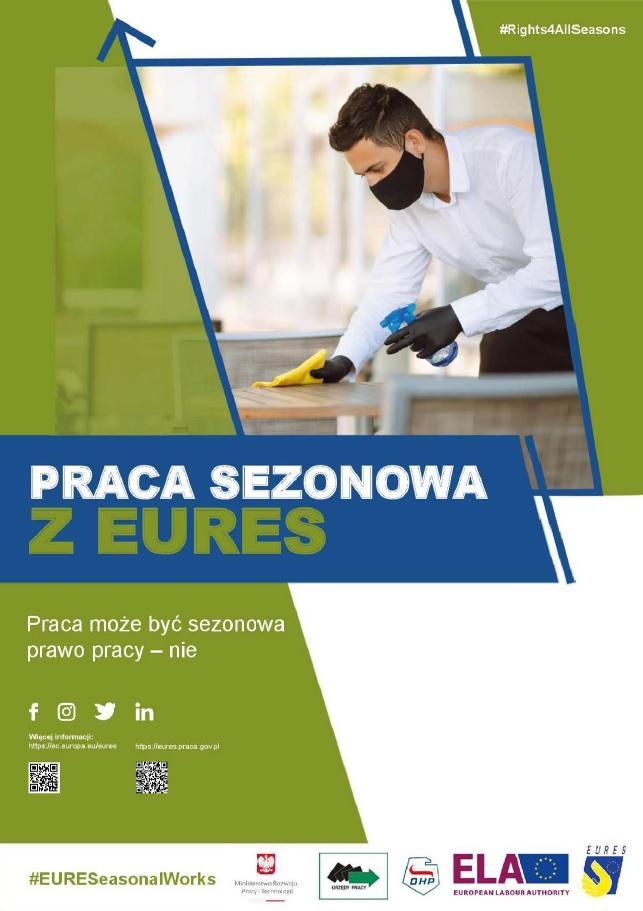 plakat kampanii promocyjnej dotyczącej praw pracowników sezonowych
