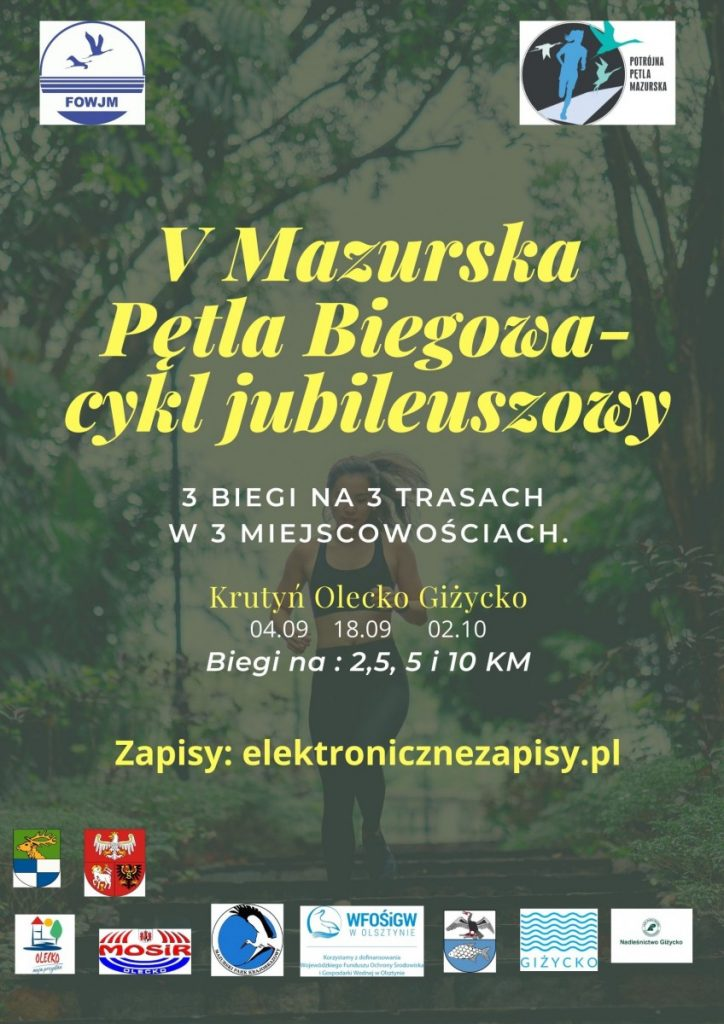 plakat Mazurska Pętla Biegowa