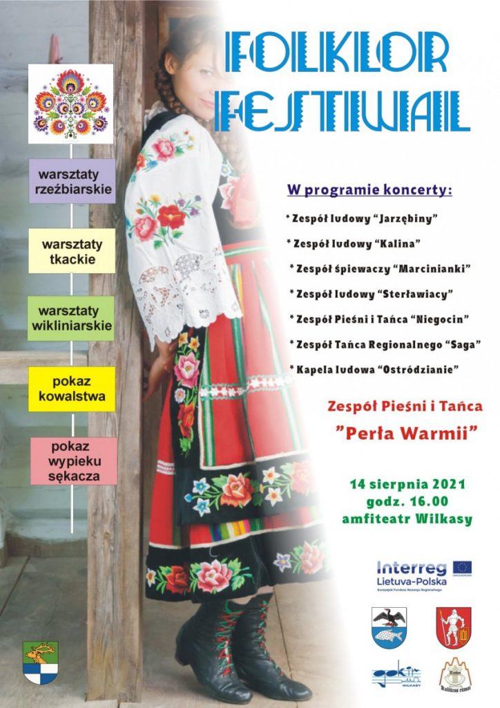 plakat festiwal folkloru