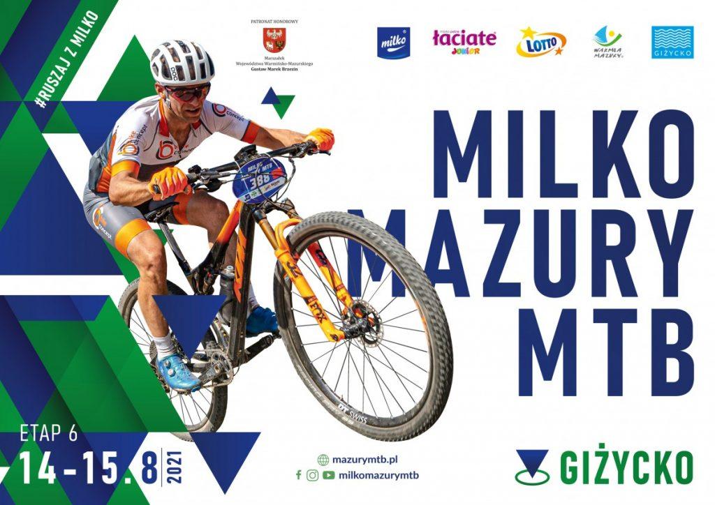 Plakat promocyjny wyścig Milko Mazury MTB