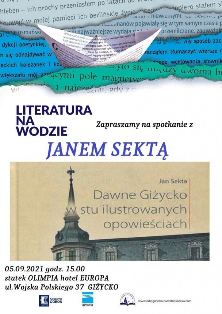 plakat spotkania autorskiego z janem Sektą